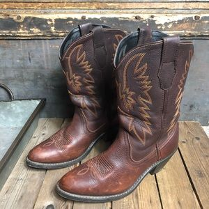 Gorgeous Vintage Leather Cowgirl Boots